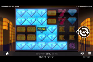 NetEnt Twin Spin Deluxe Mobile Slot Win