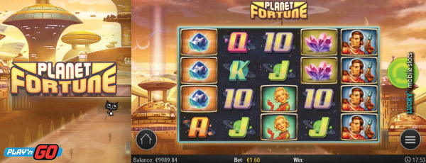 Fortune Planet Mobile Slot  With Stacked Symbols