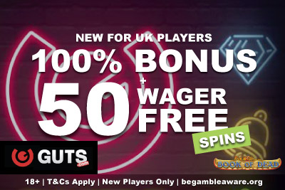 Get Your Wager Free Spins At Guts Casino On Your First Deposit