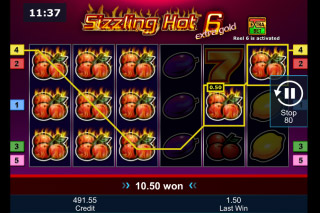Novomatic Sizzling Hot 6 Slot Reels