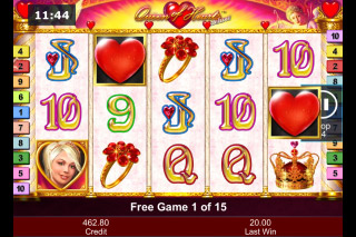 Queen of Hearts Deluxe Mobile Slot Free Spins