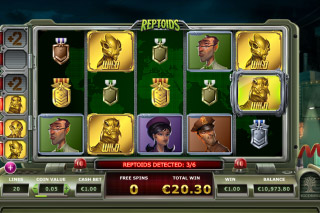 Reptoids Slot Free Spins