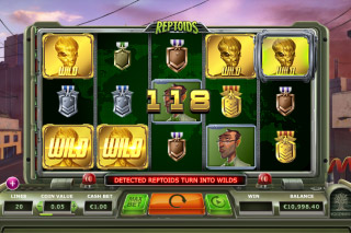 Reptoids Mobile Slot Wild Win