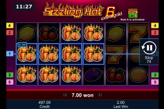 Sizzling Hot 6 Extra Gold Slot Win
