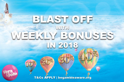 Get Your Weekly Casino Bonuses In January At Vera&John