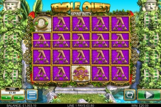 BTG Temple Quest Spinfinity Slot Win