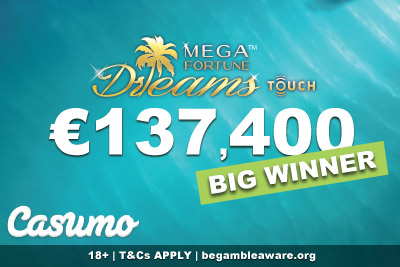 Irish Casumo Casino Slots Player Wins Big On Mega Fortune Dreams