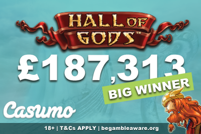 Lucky Casumo German Casino Player Wins Hall of Gods Jackpot