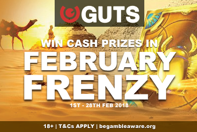 Win Cash Prizes In Guts Casino February Frenzy