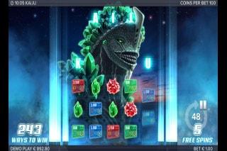 Kaiju Slot Free Spins Bonus