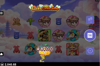 Microgaming Lucky Little Gods Bonus Win