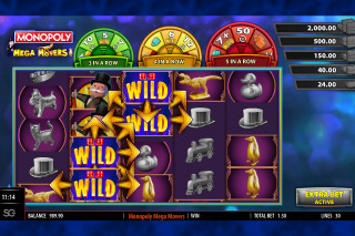 Monopoly Mega Movers Mobile Slot Wilds