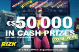 Rizk Races €$50,000 In Real Cash Prizes To Be Won