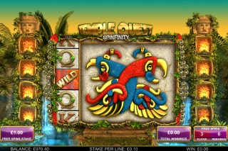 Temple Quest Spinfinity Slot Free Spins