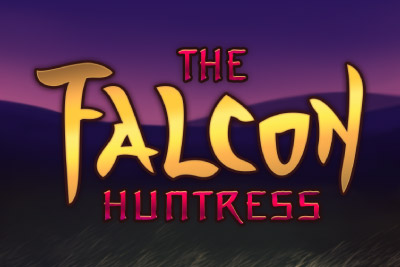 The Falcon Huntress Mobile Slot Logo