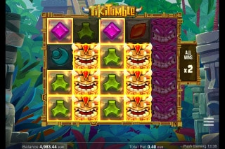 Tiki Tumble Mobile Slot Bonus