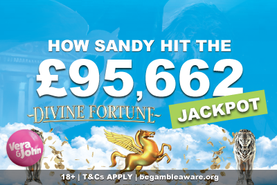Vera John Casino Jackpot Win On NetEnt Divine Fortune
