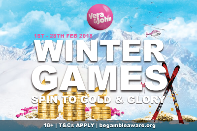 Vera John Mobile Casino Winter Games - Spin To Gold & Glory