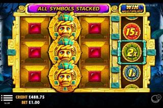 Aztec Gems Slot Stacked Symbols