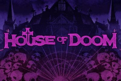 House of Doom Mobile Slot Logo