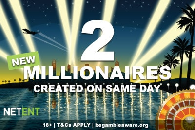 NetEnt Jackpot Slots Create 2 Millionaires On Same Day