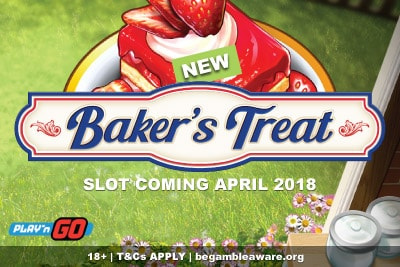 New Play'n GO Bakers Treat Mobile Slot Coming April 2018