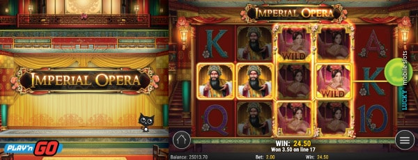 Play'n GO Imperial Opera Mobile Slot Machine With Wild Reels
