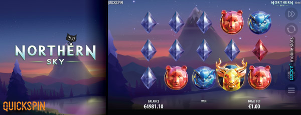 Quickspin Nothern Sky Mobile Slot Game