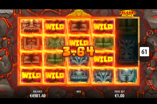 Quickspin Volcano Riches Slot Wilds Win