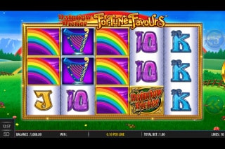 Rainbow Riches Fortune Favours Mobile Slot Machine