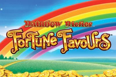 Rainbow Riches Fortune Favours Mobile Slot Logo