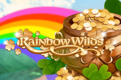 Rainbow Wilds Mobile Slot Logo