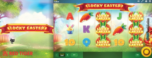 Red Tiger Lucky Easter Slot Machine