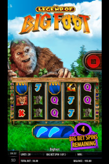 The Legend Of Big Foot Mobile Slot Machine
