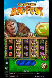 The Legend Of Big Foot Mobile Slot Wilds