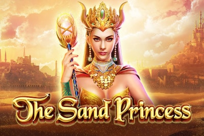 The Sand Princess Mobile Slot Logo