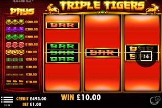 Triple Tigers Mobile Slot Win