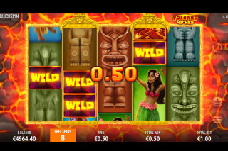Volcano Riches Slot Free Spins Round