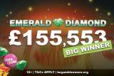 Over £155K Emerald Diamond Slot Big Winner at Vera&John