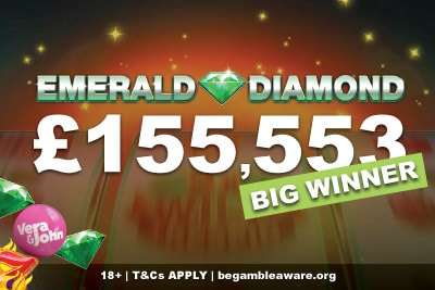 Over £155K Emerald Diamond Slot Big Winner at Vera&John