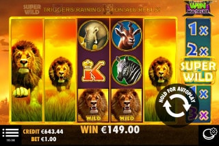 Hot Safari Mobile Slot Super Wild Reels