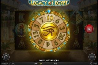 Legacy Of Egypt Mobile Slot Wheel of Gods