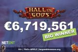 NetEnt Hall of Gods Mobile Jackpot Win