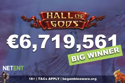 NetEnt Hall of Gods Mobile Jackpot Win