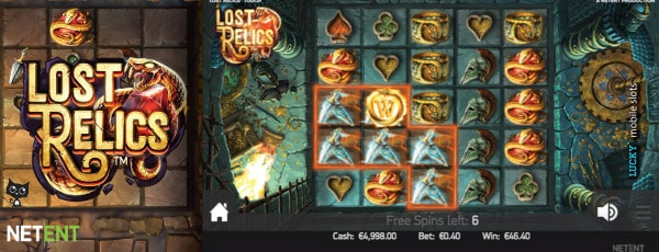 NetEnt Lost Relics Slot Free Spins Preview
