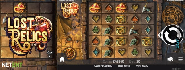 Lost Relics Slot Machine On Mobile
