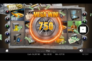 NetEnt The Real Steal Slot Mega Win