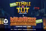 New Temple of Tut and Wild Heist Slots Coming May 2nd 2018