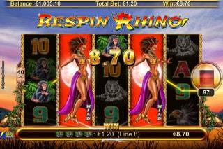 Respin Rhino Mobile Slot Machine