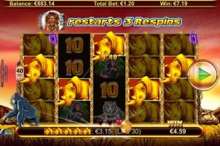 Respin Rhino Slot Respin Win
